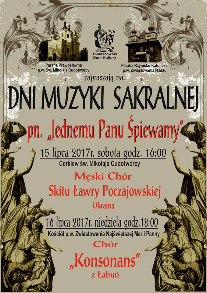 Dni Muzyki Sakralnej w Tomaszowie Lubelskim