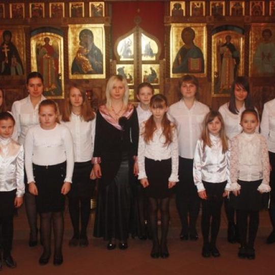Chór Dziecięcy parafii prawosławnej pw. Wszystkich Świętych Białoruskich, z Grodna