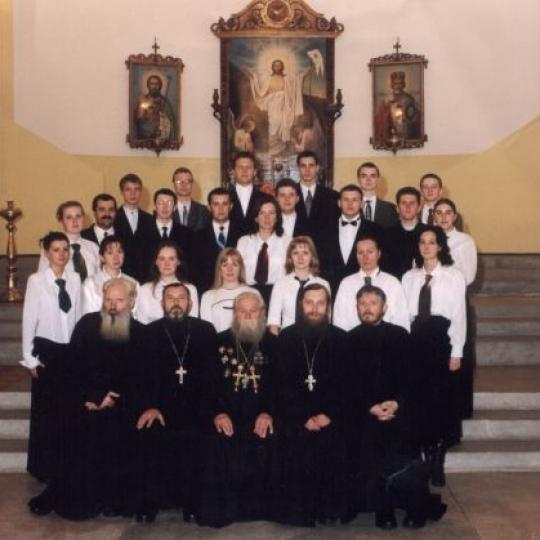 Chór katedry prawosławnej pw. Zmartwychwstania Pańskiego, w Brześciu